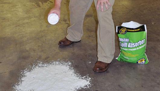 C mo limpiar derrames de sustancias industriales constru for Como quitar manchas de pintura de aceite del piso