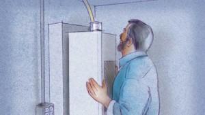 Montaje del calentador de agua sin tanque