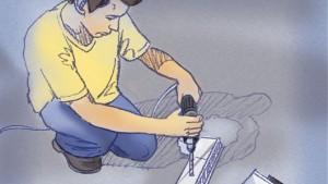 Acople las secciones de la canaleta utilizando engatilladores