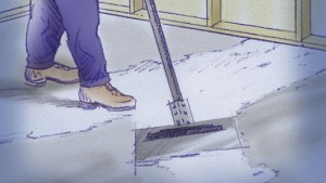 Colocar pisos de cerámica: superficie nivelada