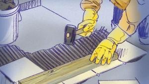 Colocar pisos de cerámica: nivele las baldosas