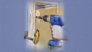 Instalar gabinetes de cocina: alinee los gabinetes inferiores