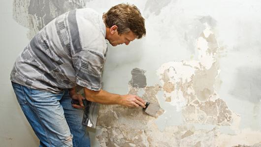 C mo quitar la textura de panel de yeso constru gu a al d a - Quitar pintura de pared ...