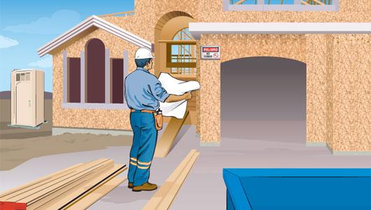 obra de construcción segura