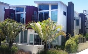 Casas hechas con contenedores de carga