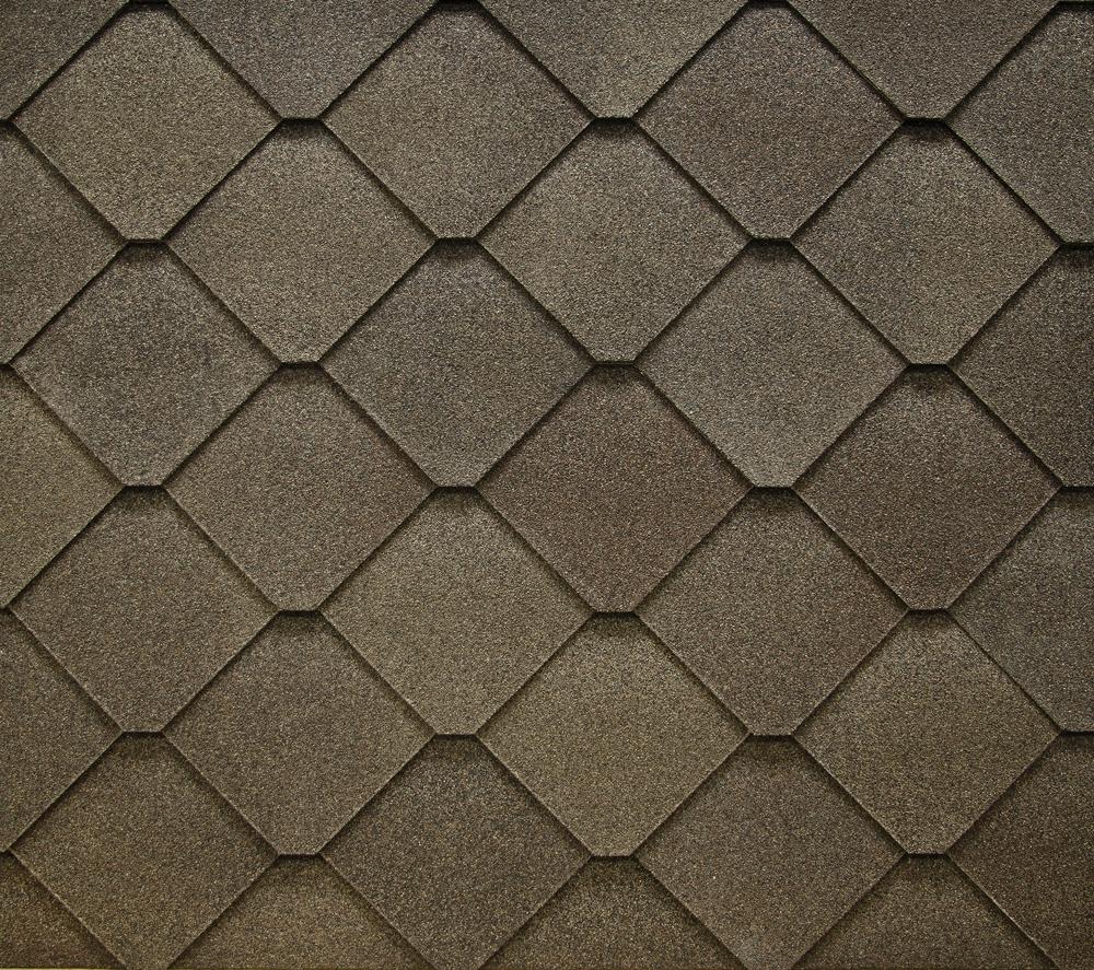 Tejas de asfalto con forma de diamante constru gu a al d a for Tejas livianas para techos