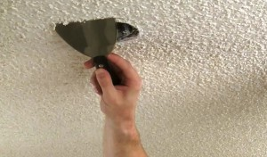 quitar techos con textura escarchada sin pintar
