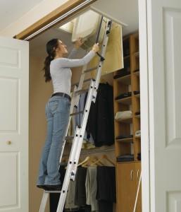 las escaleras plegables para ático son una opción inteligente