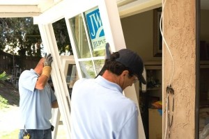 reemplazar las puertas corredizas de vidrio