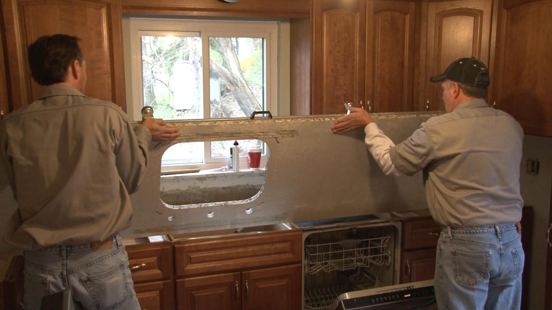 C mo instalar encimera de granito constru gu a al d a - Como montar una cocina ...
