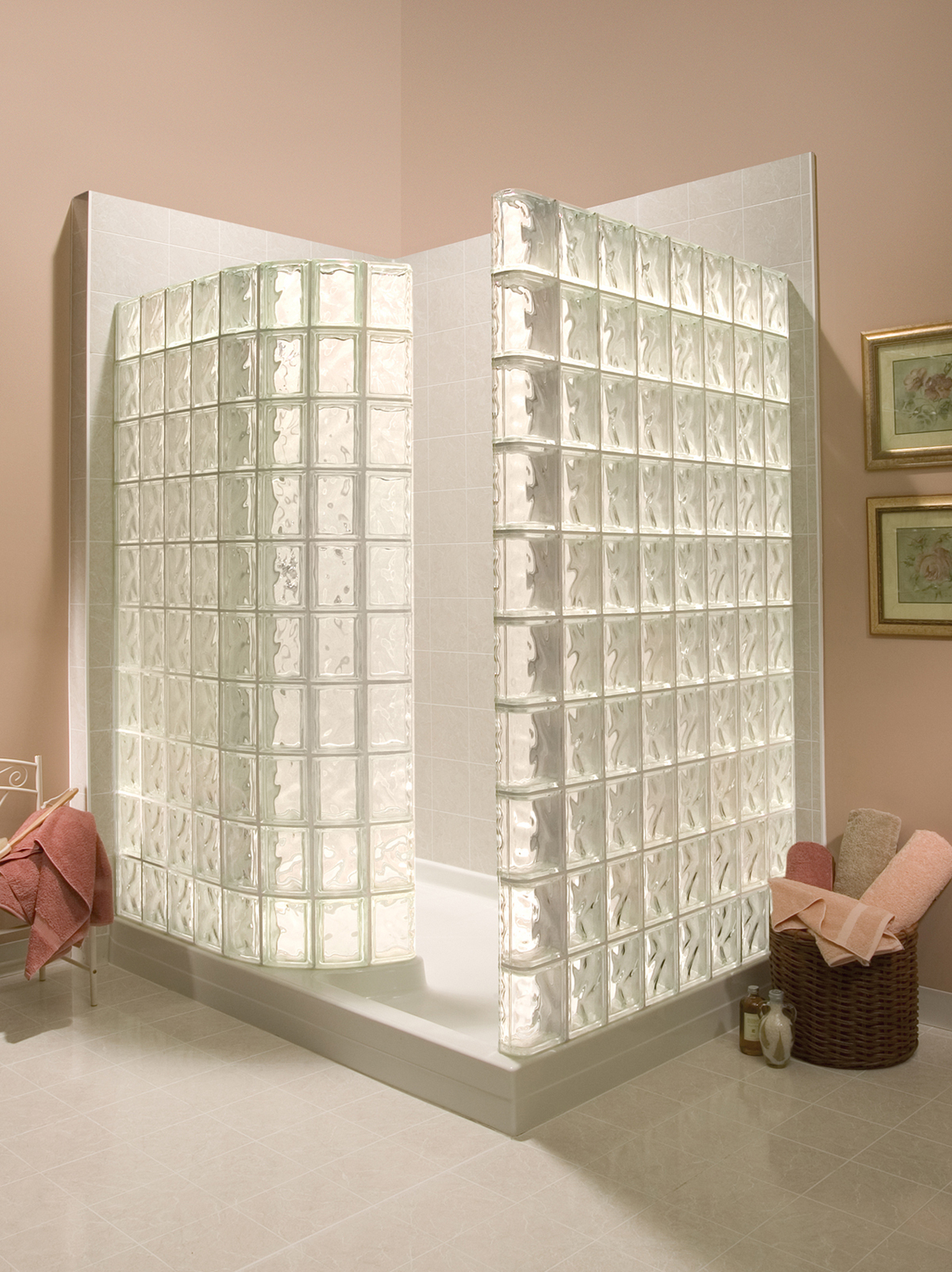 C mo instalar paredes de bloques de vidrio para duchas - Bloques de vidrio para bano ...