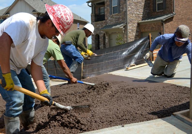 C mo preparar concreto estampado constru gu a al d a - Como pulir un piso de cemento ...