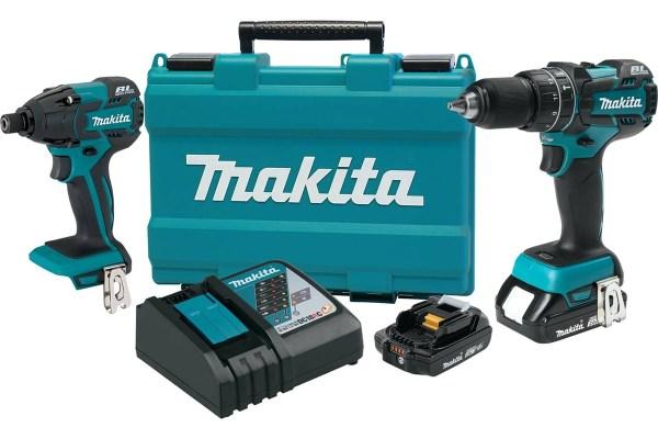 El kit combinado inalámbrico de ión de litio de 18V de Makita