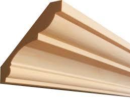 Materiales para molduras decorativas más comunes: madera sólida