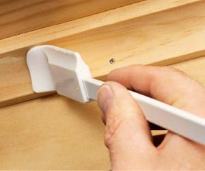 La pieza remanente debe ser adherida y no clavada a la otra pieza.