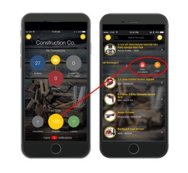 Aplicación para rastrear herramientas