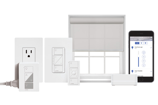 Base Smart Bridge de Lutron, que viene con un kit básico